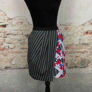 Peter Pilotto for Target 4 Red Black Floral Skirt